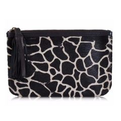Kordofan Animal Print Leather Clutch Bag