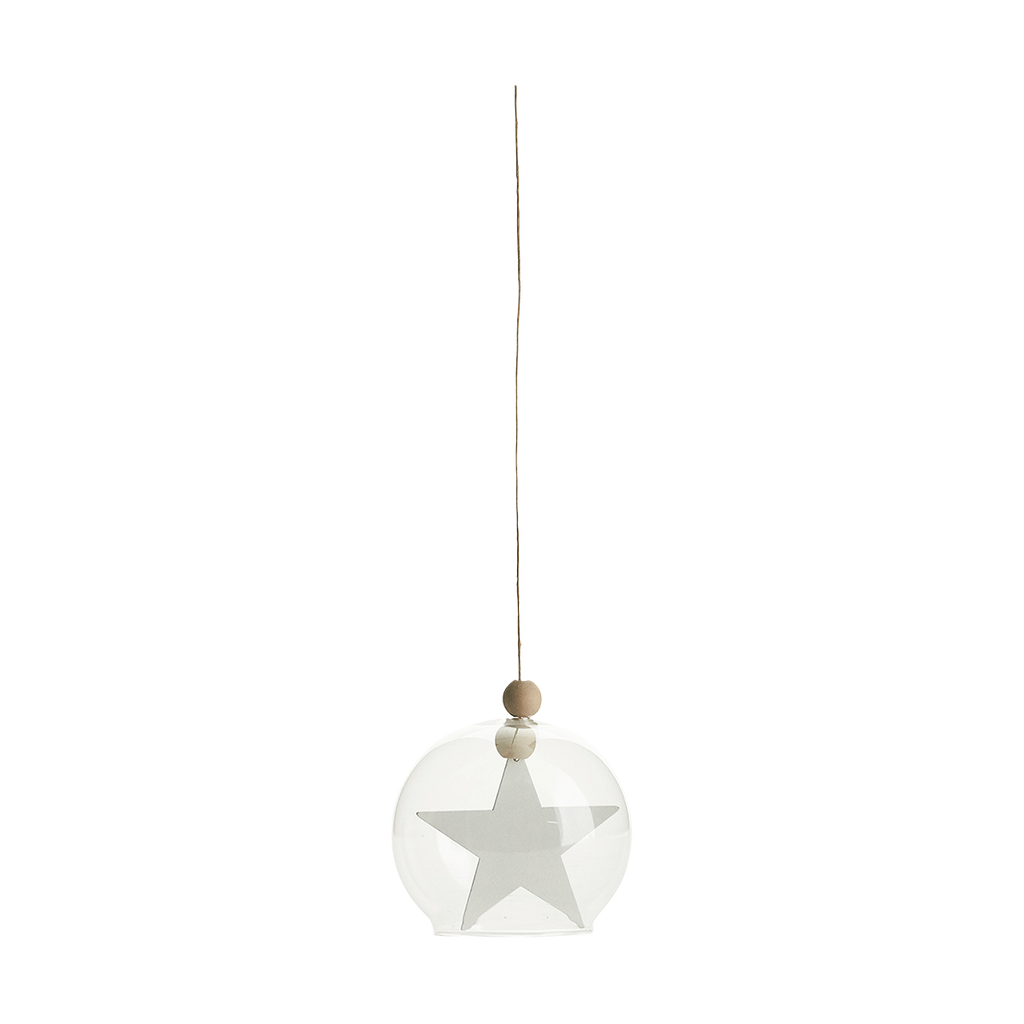 Hanging Star in Glass Bauble