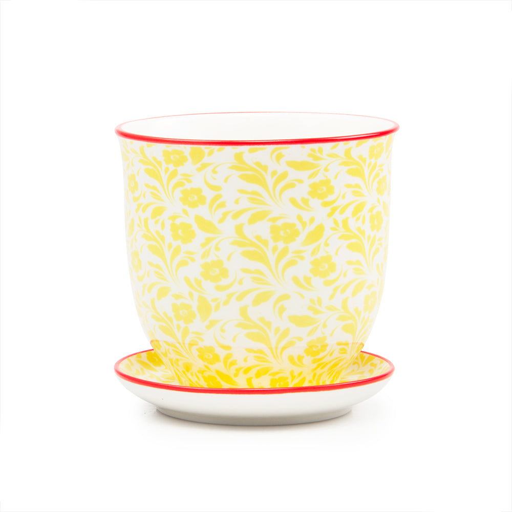 Sunshine Yellow Liberte Plant Pot