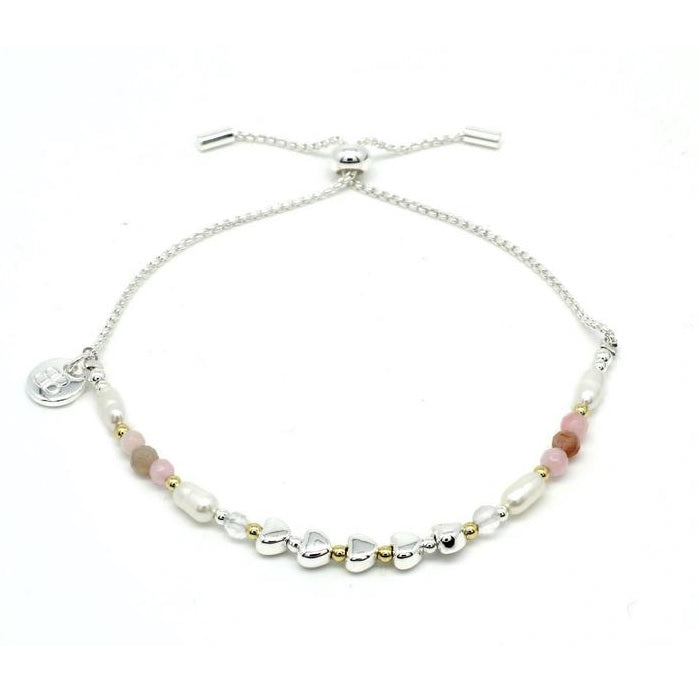Pink Heart Friendship Bracelet
