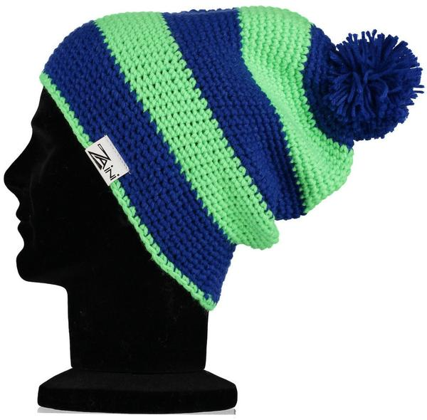 Pea Green & Navy Blue Men's Beanie
