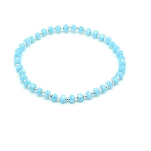 Blue Stretch Beaded Bracelet