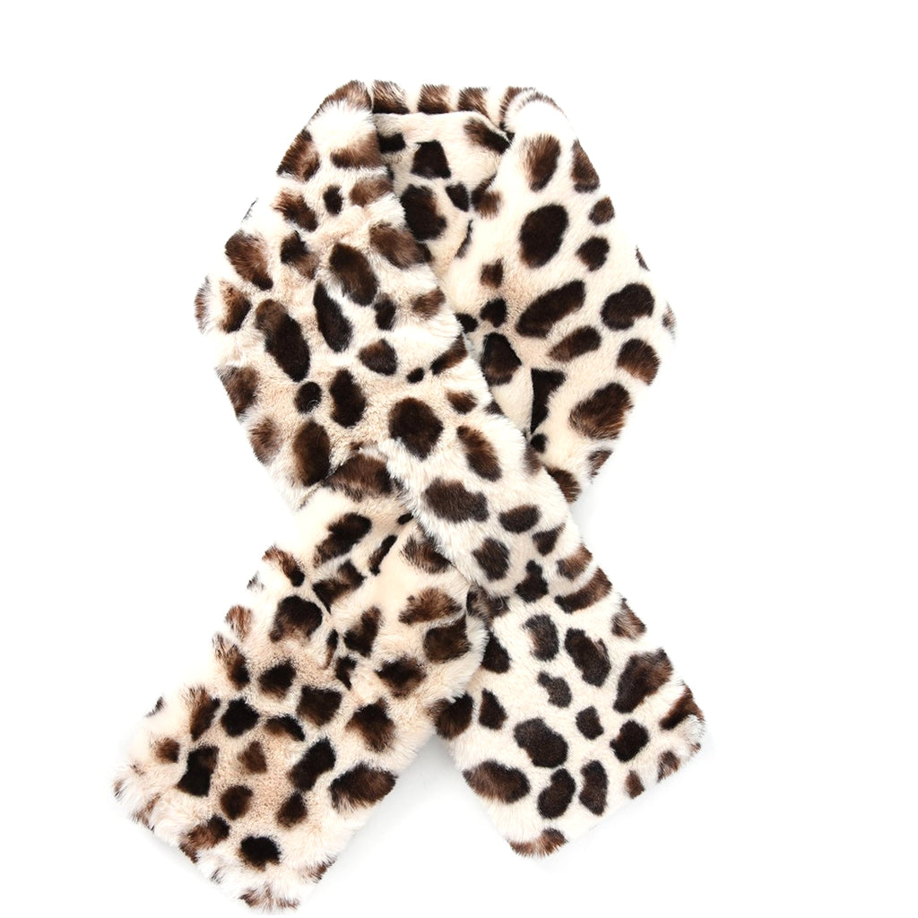 Share this Product. facebook · pinterest · twitter · google plus. Close  (Esc). Cream   Brown leopard print Faux fur collar 71491a2c9