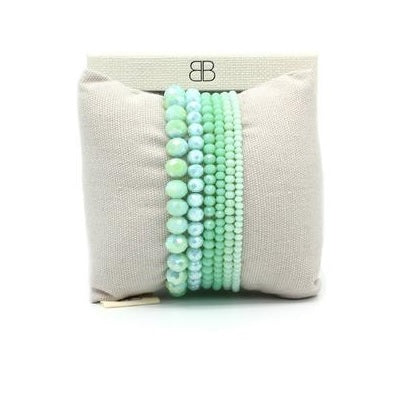 Mint Green layered Bracelet