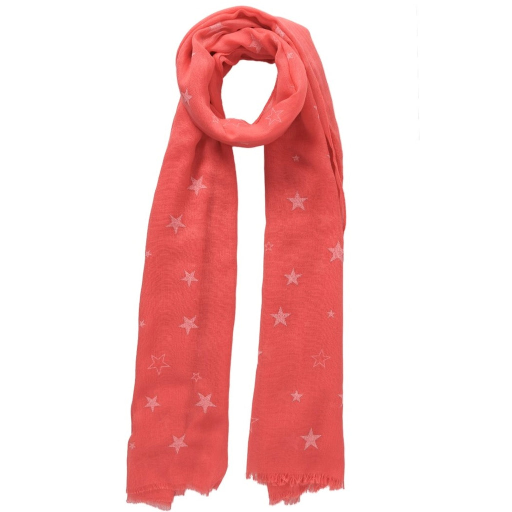 Coral scarf with star clusters