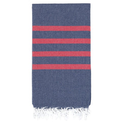 Navy & Red Men's Hamam Towel