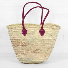 Souk Shopper with Fuchsia handles
