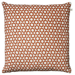 Burnt Orange Honeycomb Cushion