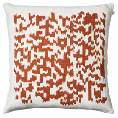 Burnt Orange Barcode Cushion