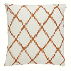 Burnt Orange Criss Cross Linen Cushion