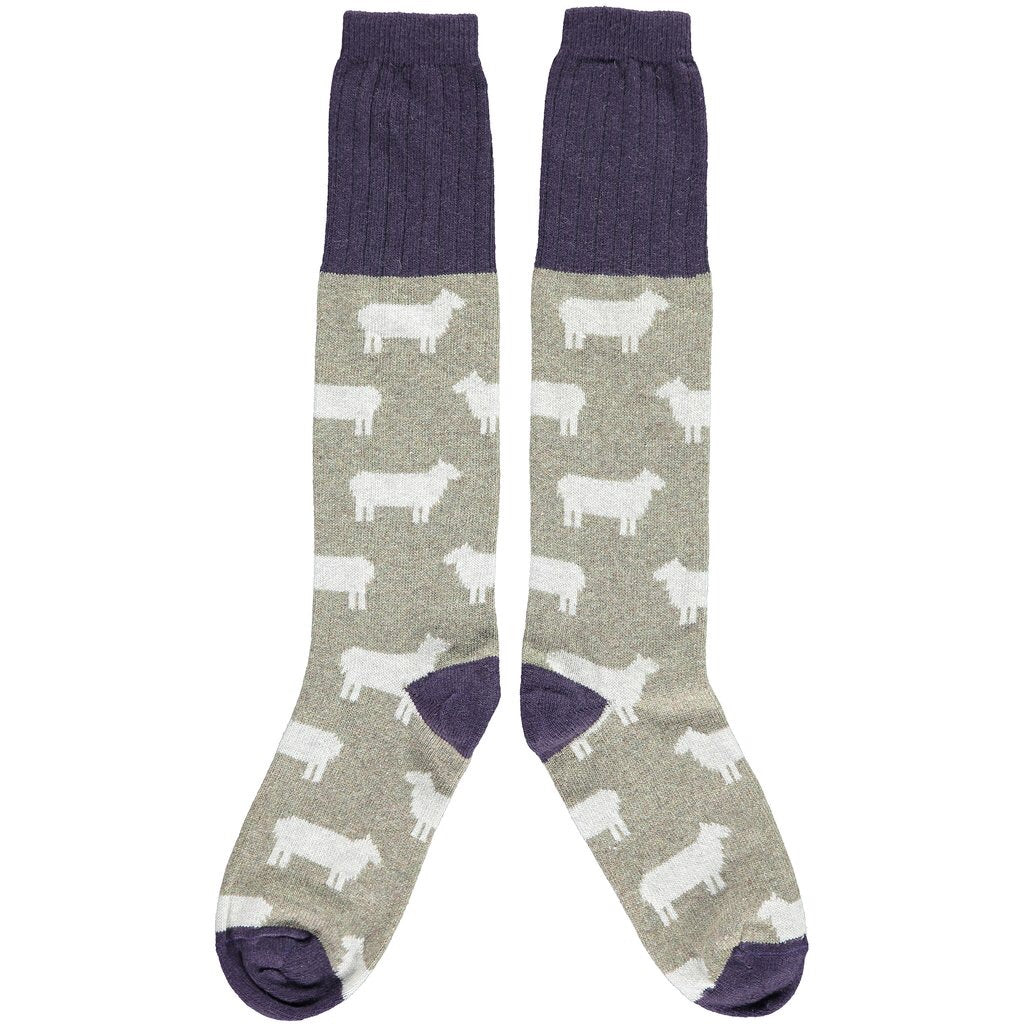 Sheep Lambswool Knee Socks