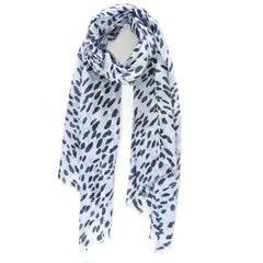 Light blue and silver animal spot scarf