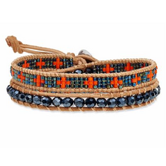 Orange Blue Wrap Bracelet