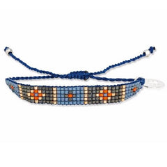 Blue Jean Navy Beaded Bracelet