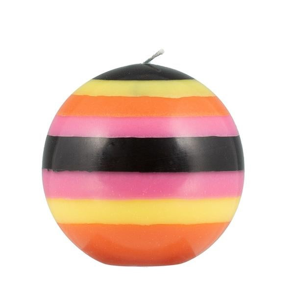 Rose, Orange, Yellow & Jet Ball Candle