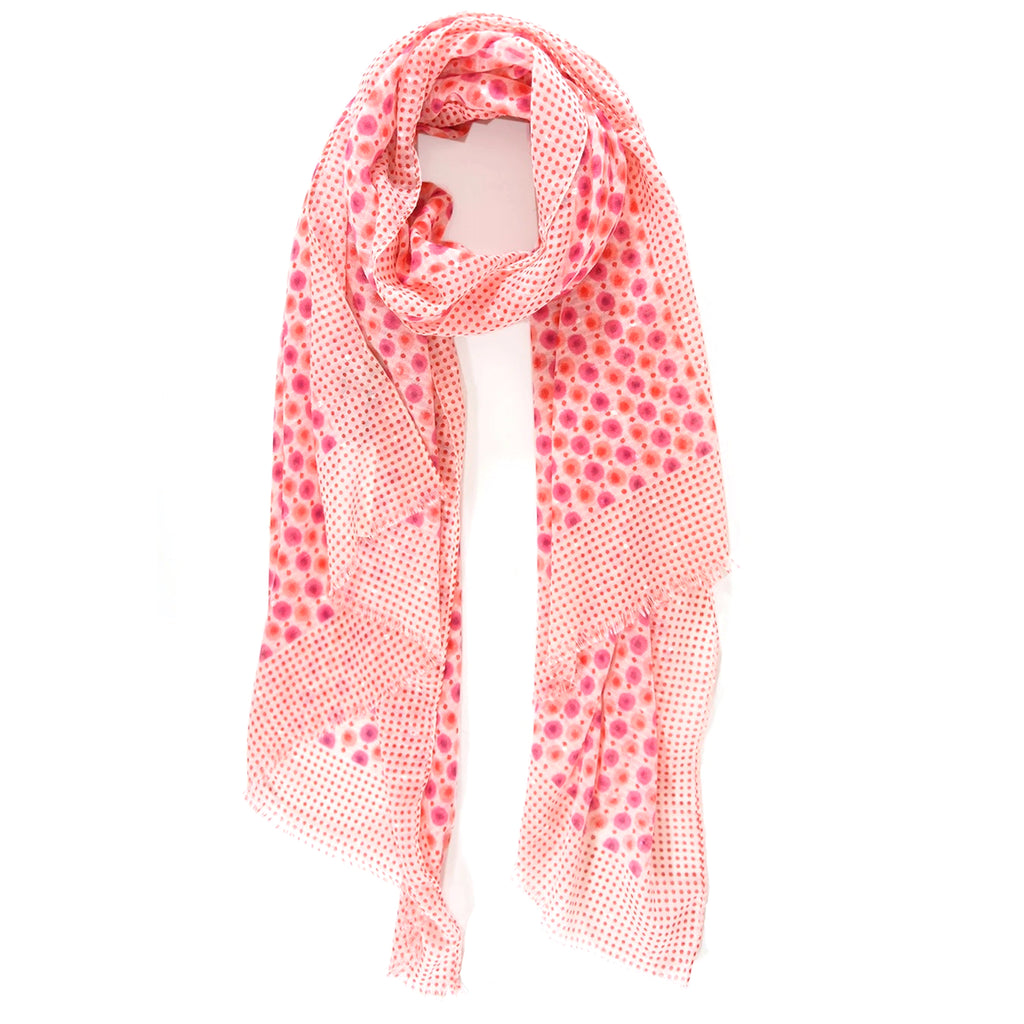 Pink & Red Polka Dot scarf