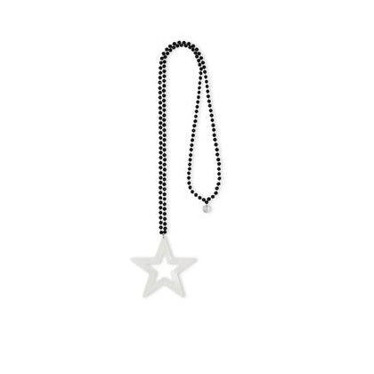 Long Silver Star Crystal necklace