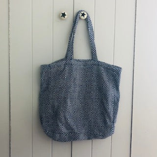 Navy Diamond Shopping Bag WAS £20 NOW £10