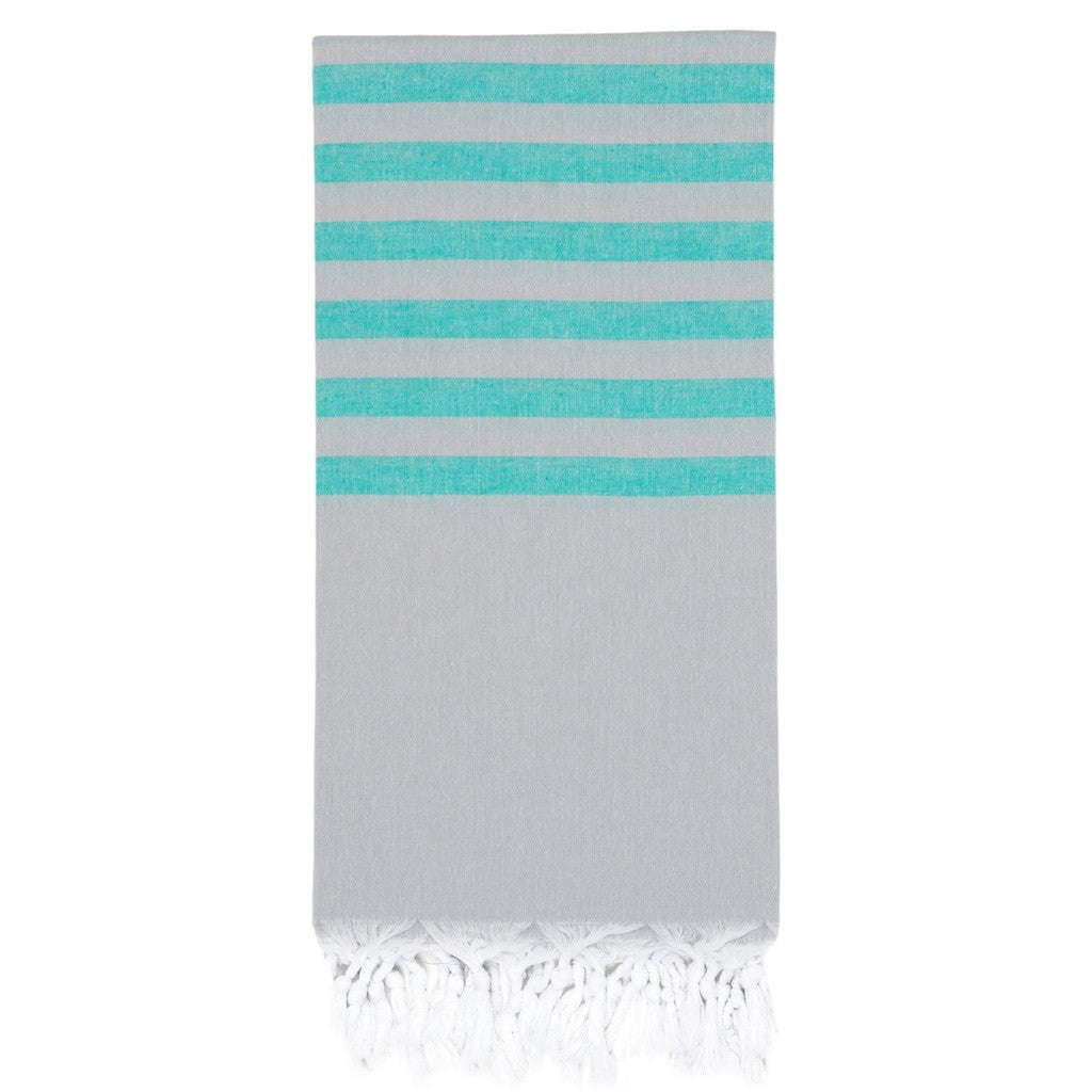 Jade / Grey Hamam Towel