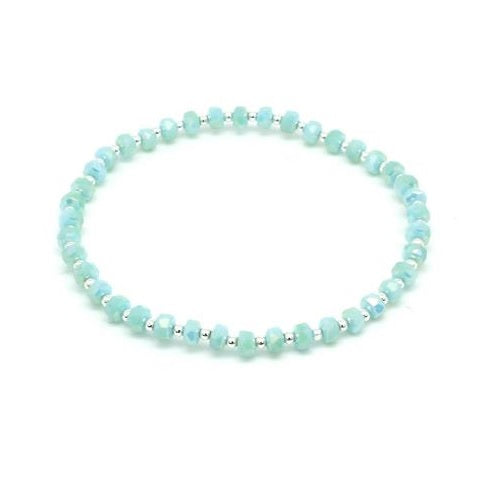 Mint Stretch Beaded Bracelet