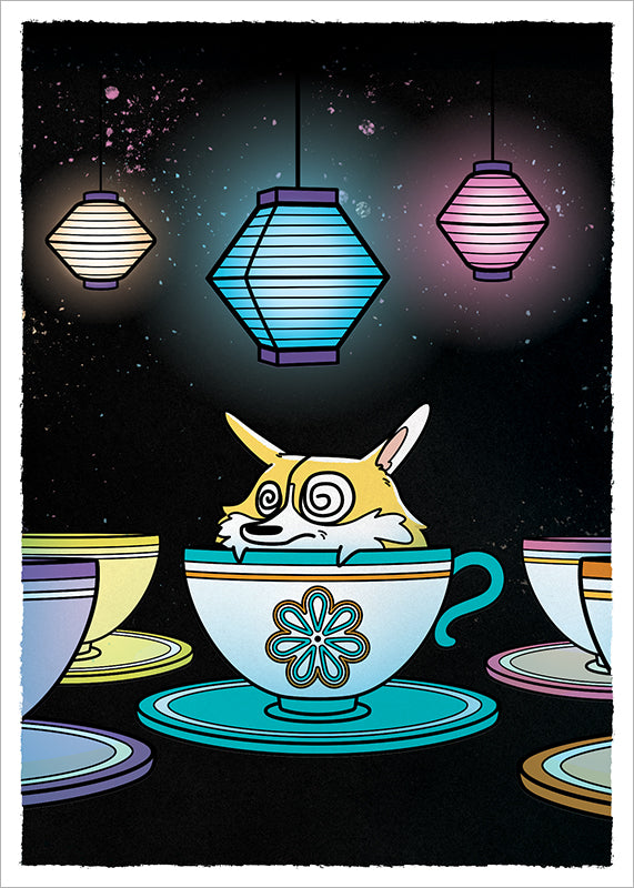 Mad Tea Party Corgli print.