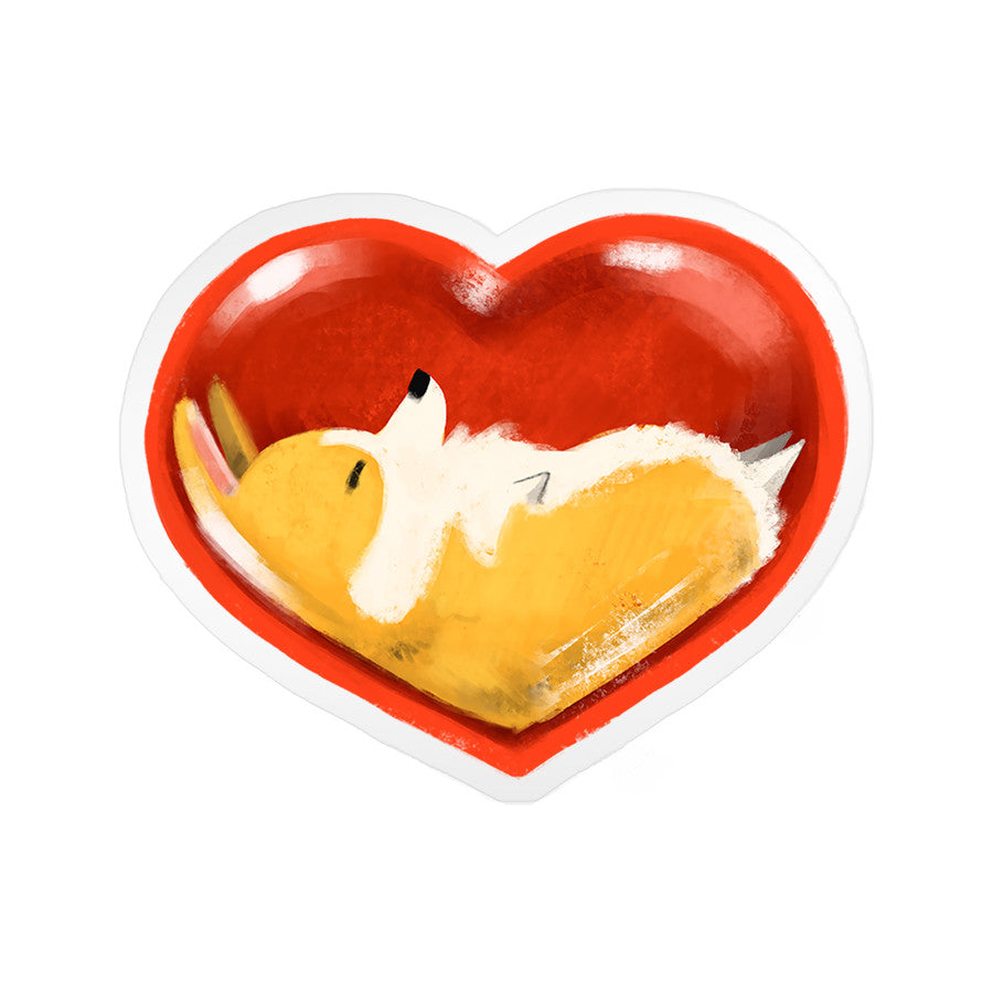 Corgli Heart Clear Sticker