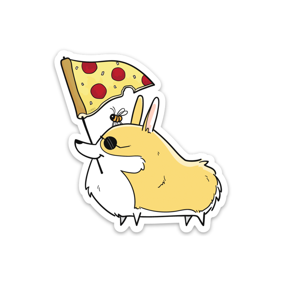Pizza Flag Sticker