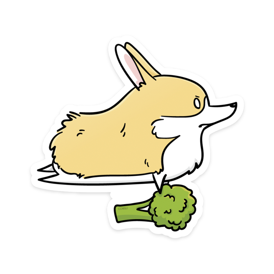 Corgli Broccoli Sticker