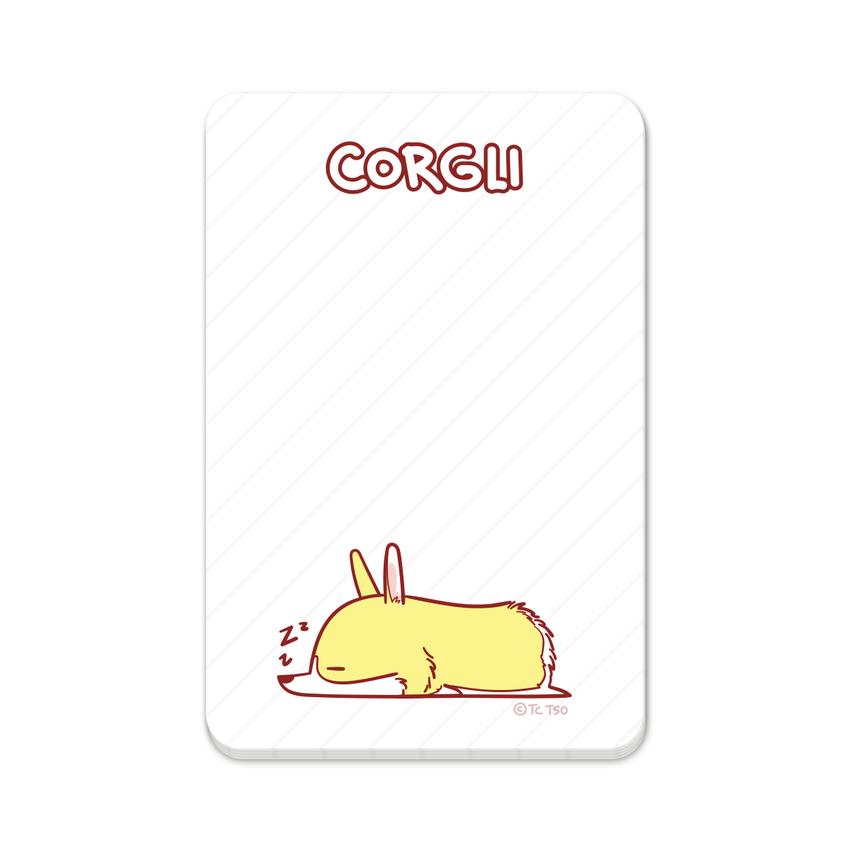 Napping Corgli Sticky Notes by Corgli & Co.
