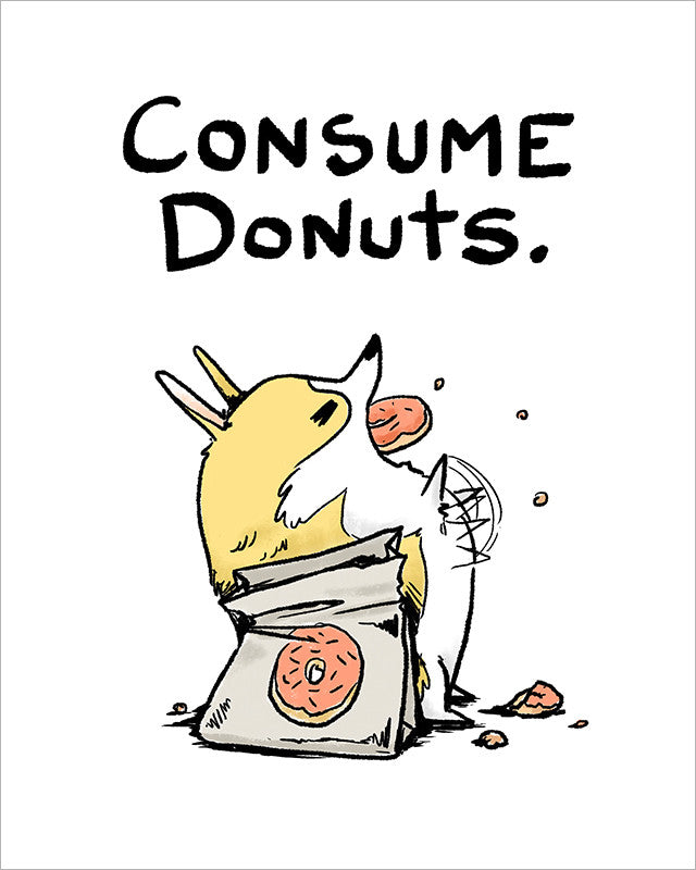 Consume Donuts Print