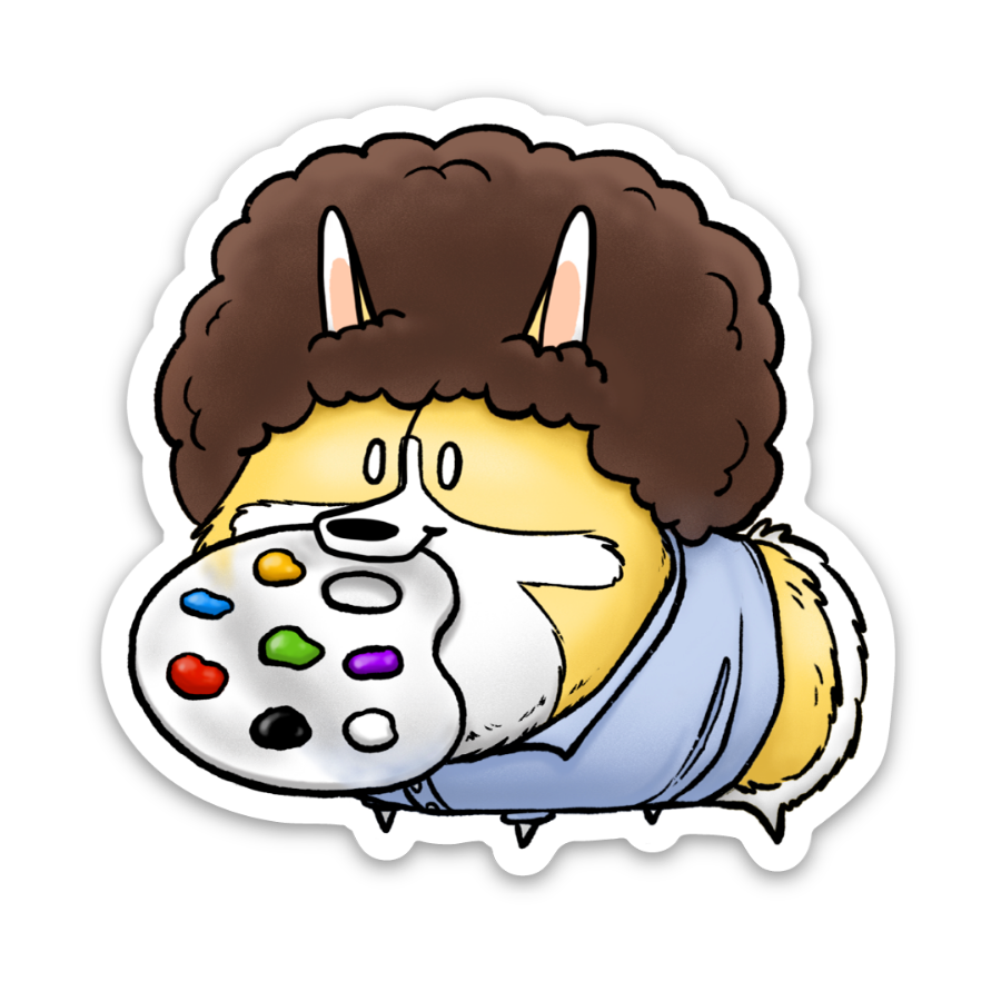 Blob Ross Sticker