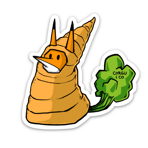 Carrot Zaki Sticker