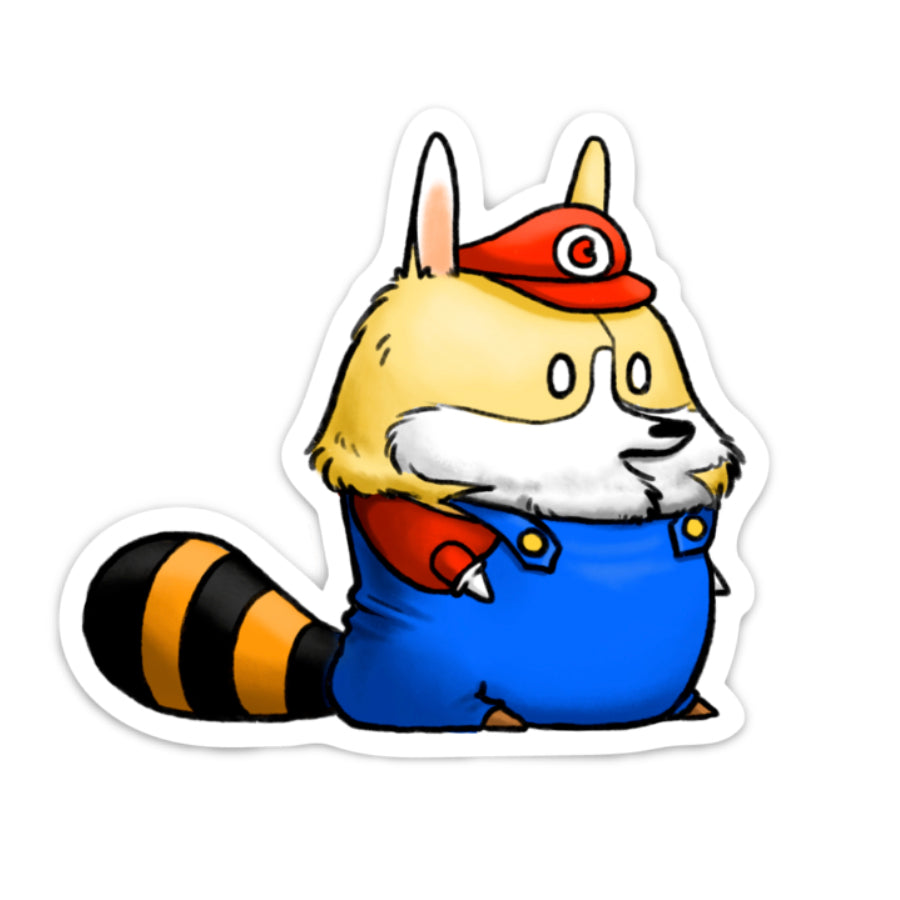 Raccoon Suit Sticker