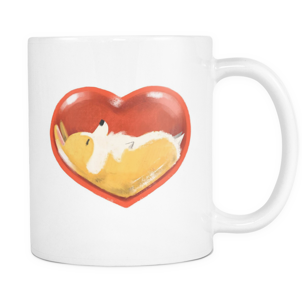 Corgli Heart Mug - 11oz