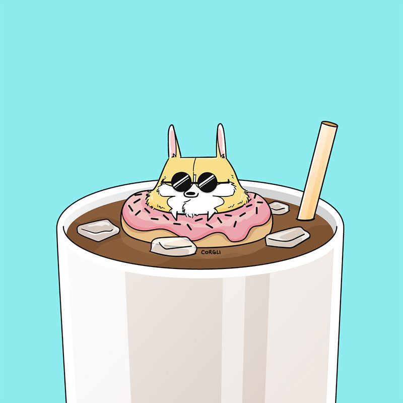 Donut Coffee Mini Print