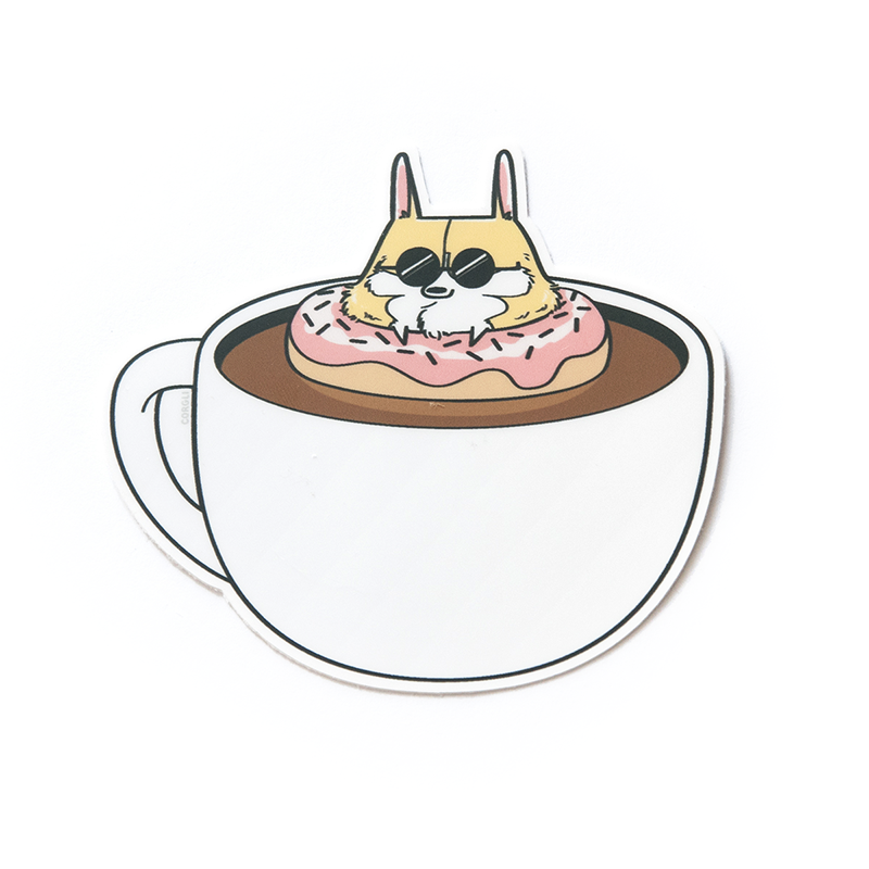 Donut Coffee Sticker