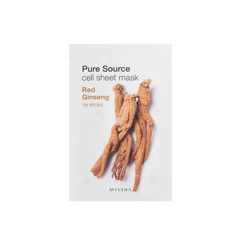 MISSHA Pure Source Cell Sheet Mask - Red Ginseng - brandstoreuae