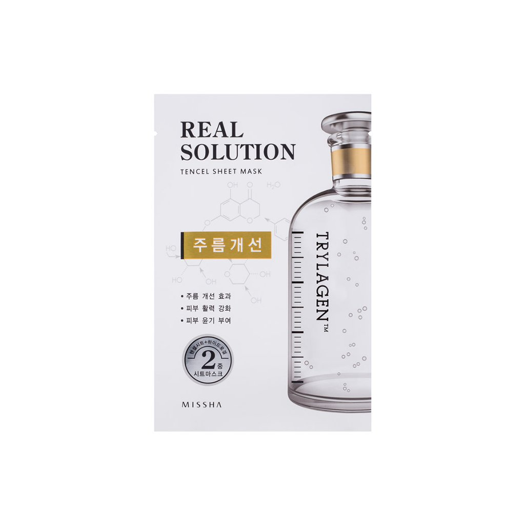 MISSHA Real Solution Tencel Sheet Mask - (Wrinkle Caring) Trylagen - brandstoreuae