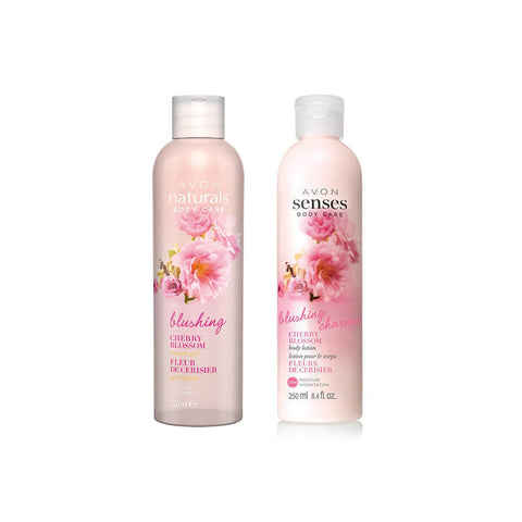 Avon - Naturals Cherry Blossom Shower Gel + Body Lotion - brandstoreuae
