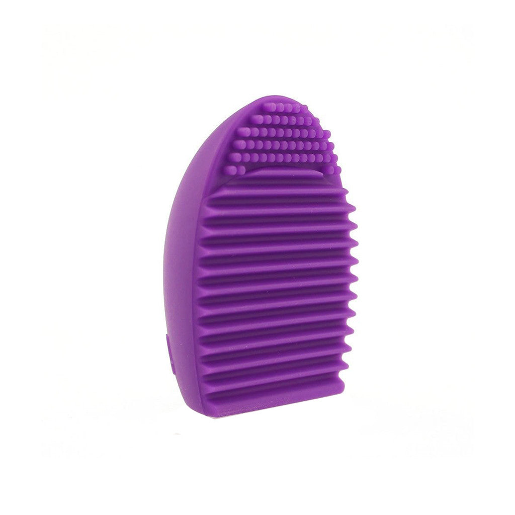 Silicon Brush Egg Makeup Brush Cleaning Tool - Purple - brandstoreuae