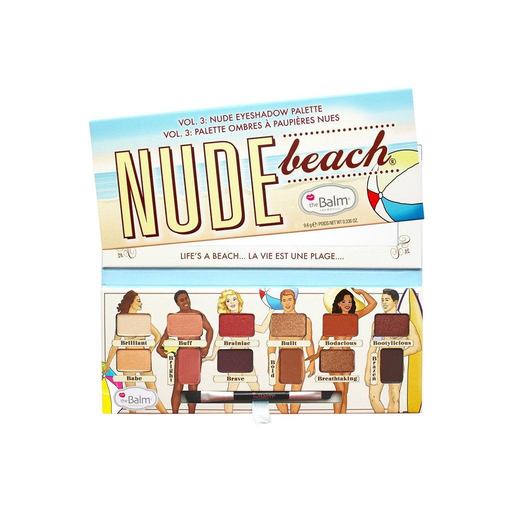 the Balm Nude Beach Eyeshadow Palette -12 colors - brandstoreuae
