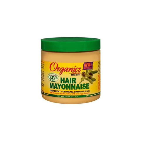 Organics - Hair Mayonnaise Treatment for Weak, Damaged Hair with Extra Virgin Olive Oil - 511g