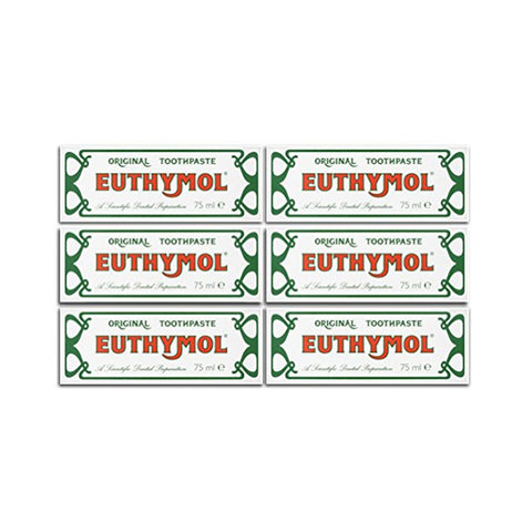 Euthymol Toothpaste -75 ml ( Set of 6 Pcs ) - brandstoreuae
