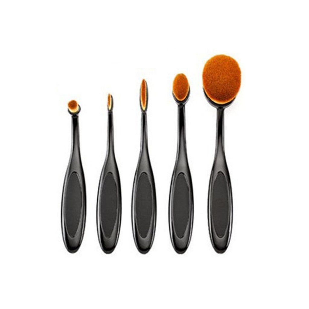 Oval Brushes - 5pcs Makeup Brushes Toothbrush Oval Brush Professional Kit for Foundation - brandstoreuae