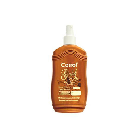 Carrot Sun Tanning Oil Sans/Without Protection - Gold - 200ml - brandstoreuae