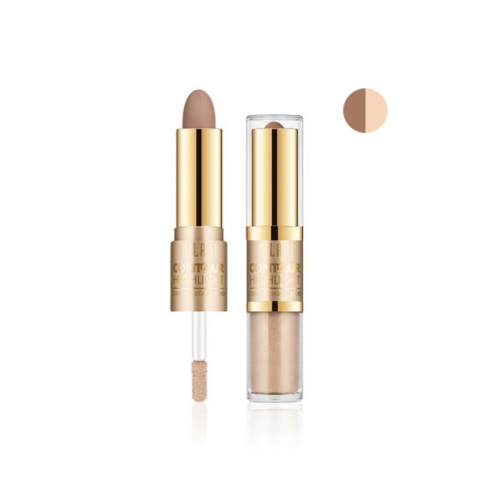 Milani Contour & Highlight Cream & Liquid Duo - Fair/Light - brandstoreuae