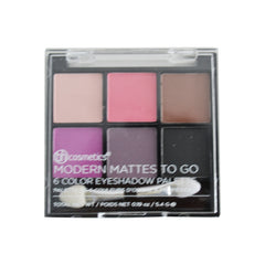 BH Cosmetics - Modern Mattes To Go - 6 Color Eyeshadow Palette - brandstoreuae