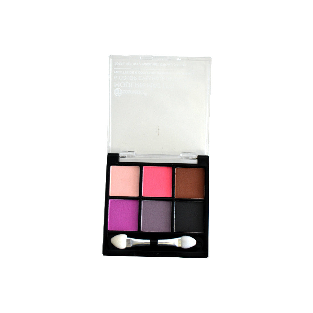 BH Cosmetics - Modern Mattes To Go - 6 Color Eyeshadow Palette