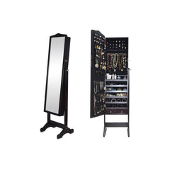 Full Length Jewelry Cabinet with Mirror - 132 x 48 x 17 cm - brandstoreuae