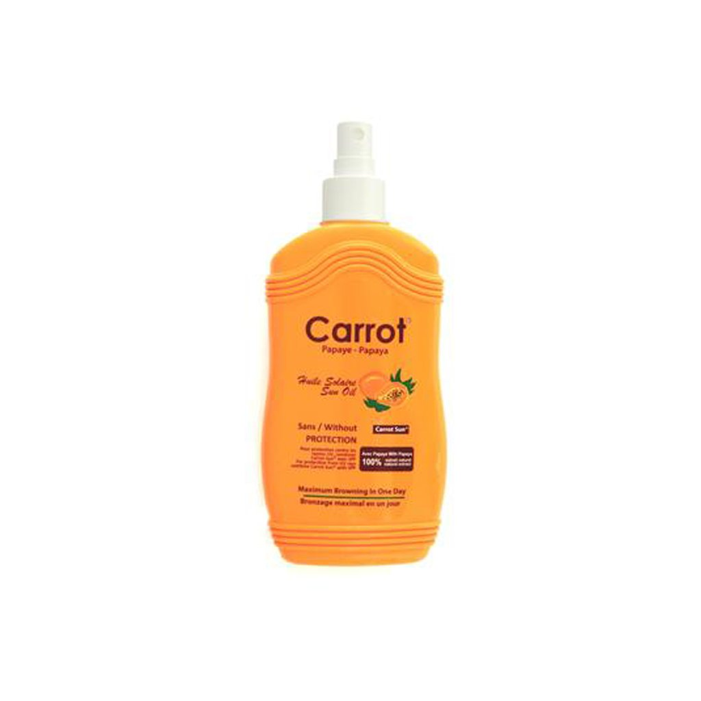 Carrot Sun Tanning Oil Sans/Without Protection - Papaya - 200ml - brandstoreuae